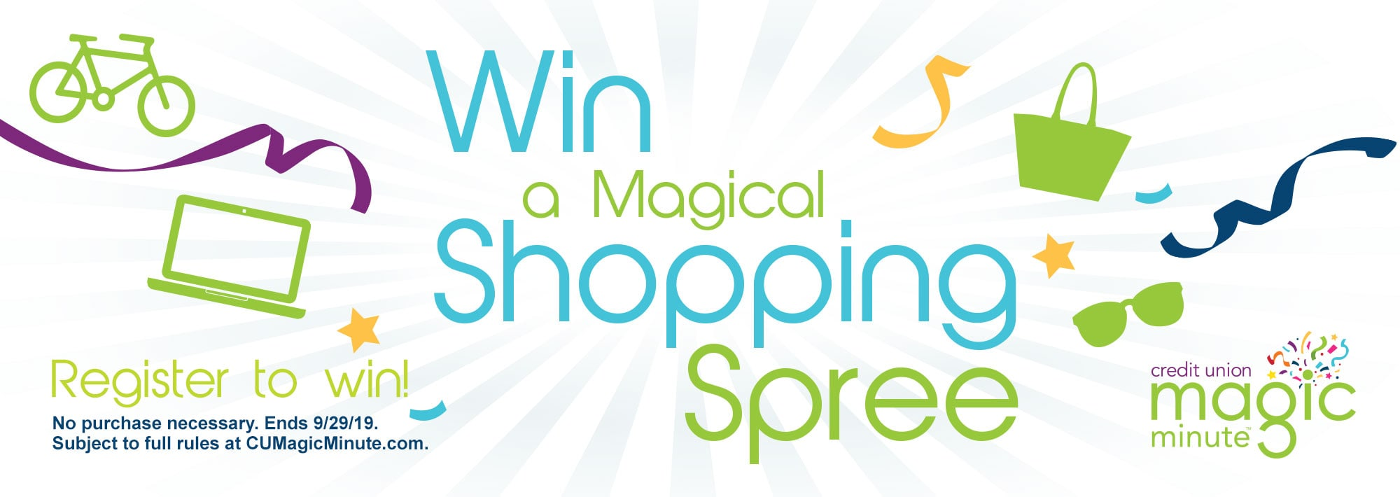 Win a Magical Shopping Spree. Register to win!